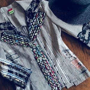 Jackets & Blazers - Save The Queen Unique Boho Check Blazer